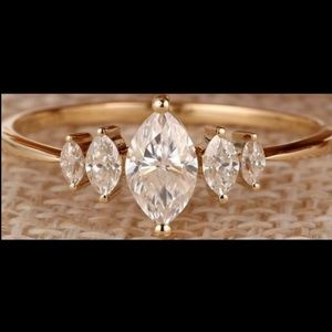 The Countess Ring - 3.6tcw 5 stone Marquise Ring